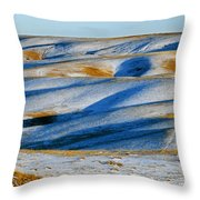 Oldman River Valley In Winter Throw Pillow