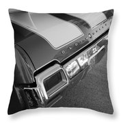 Olds Cs In Black And White Throw Pillow