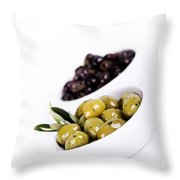 Olive Bowls Throw Pillow
