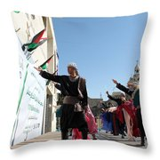 Olive Festival At Manger Square Throw Pillow