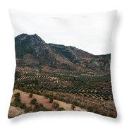 Olive Oil Mountain Throw Pillow