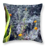 Olive Trees In The Background Throw Pillow