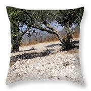 Olive Trees Standing Alone Throw Pillow