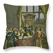 Oliver Cromwell Throw Pillow