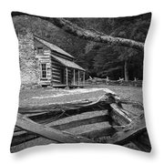 Oliver's Cabin In The Great Smokey Mountains Throw Pillow