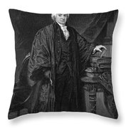 Olvier Ellsworth (1745-1807). Chief Justice Of The United States Supreme Court, 1796-1799. Steel Engraving, 1863 Throw Pillow