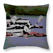 Olympic Lightweight Double Sculls Throw Pillow