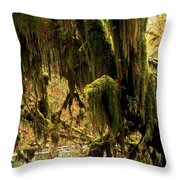 Olympic Moss Throw Pillow