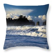 Olympic Ocean Swirls Throw Pillow