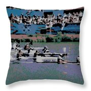 Olympic Rowing Throw Pillow