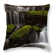 Olympics Gentle Stream Throw Pillow by Mike Reid