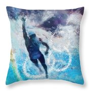 Olympics Swimming 01 Throw Pillow