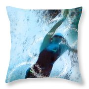 Olympics Swimming 02 Throw Pillow