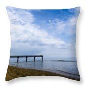 Omaha Beach Throw Pillow