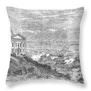 Omaha, Nebraska, 1869 Throw Pillow