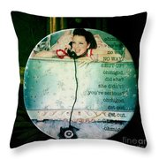 Omg No Way Shut Up Throw Pillow