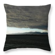 Ominous Black Storm Cloud Throw Pillow