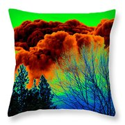 Ominous Cloudfront Throw Pillow