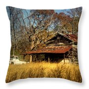 On A Back Road Throw Pillow
