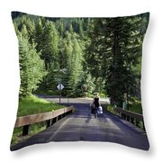 On A Country Road - Vail Throw Pillow