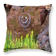 On A Happy Day Throw Pillow