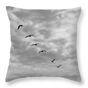 On A Mission - Black And White Throw Pillow