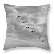 On A Mission In Black And White Squared Throw Pillow