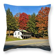 On A West Virginia Road Throw Pillow
