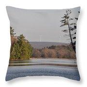 On Bear Creek Lake Throw Pillow