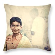 On Becoming A Man Throw Pillow