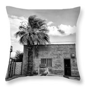 On Eugene Road Bw Throw Pillow
