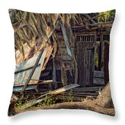 On Evergreen Plantation In La Throw Pillow