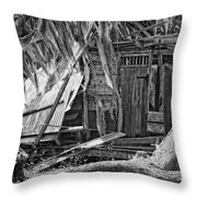 On Evergreen Platation Black And White Throw Pillow