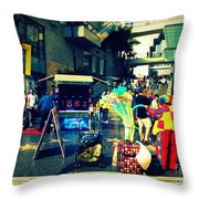 On Hollywood Boulevard In La Throw Pillow