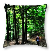 On Our Way Chasing The Eternal Flame At Chestnut Ridge Park Throw Pillow