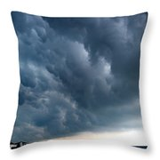 On Shore Throw Pillow by Skip Willits