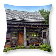On The Back Porch Throw Pillow