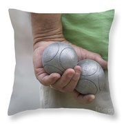 On The Boules Pitch Throw Pillow