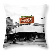 On The Corner Throw Pillow by Scott Pellegrin