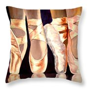 On The Edge Of Toes Throw Pillow