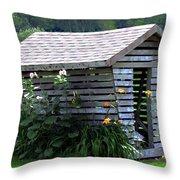 On The Farm - Corn Crib Throw Pillow