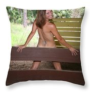 On The Fence 819 Throw Pillow