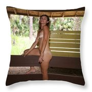 On The Fence 842 Throw Pillow