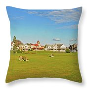 On The Green At Marthas Vineyard Throw Pillow