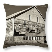 On The Lincoln Highway Sepia Throw Pillow