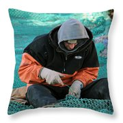 On The Mend Throw Pillow