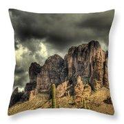 On The Mountain Throw Pillow