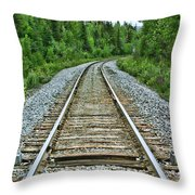 On The Rails Throw Pillow