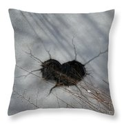 On The River. Heart In Ice 03 Throw Pillow