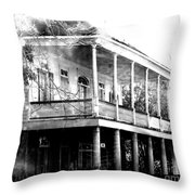 On The River Road At New Roads Throw Pillow
